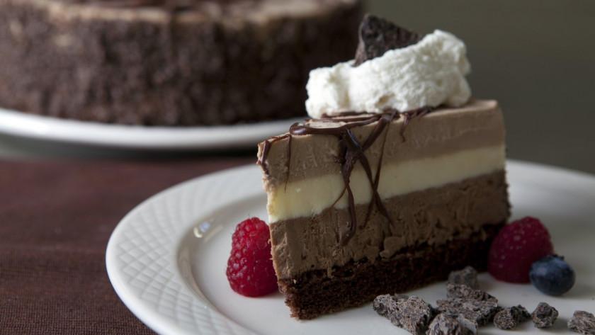 Crème bavaroise chocolat praliné