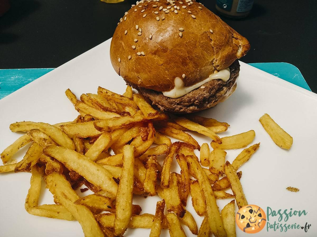 image Pain burger maison